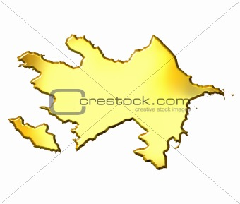 Azerbaijan 3d Golden Map