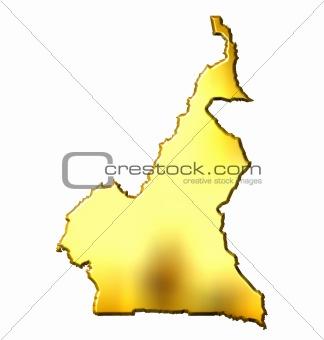 Cameroon 3d Golden Map