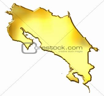 Costa Rica 3d Golden Map