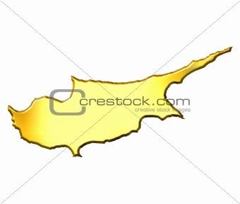 Cyprus 3d Golden Map