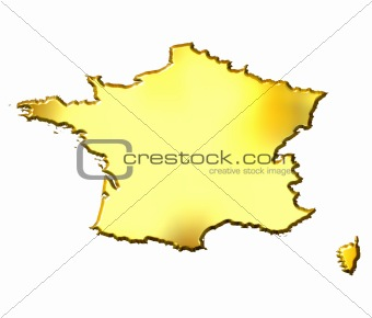 France 3d Golden Map