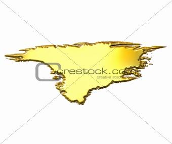 Greenland 3d Golden Map
