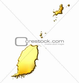 Grenada 3d Golden Map