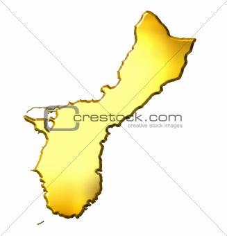 Guam 3d Golden Map