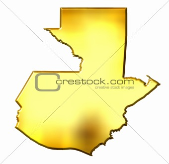 Guatemala 3d Golden Map
