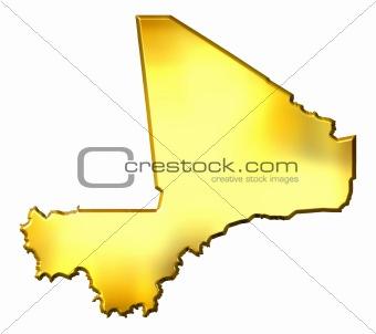 Mali 3d Golden Map