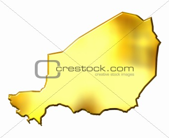 Niger 3d Golden Map