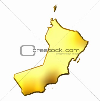 Oman 3d Golden Map