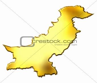 Pakistan 3d Golden Map