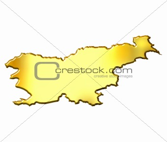 Slovenia 3d Golden Map