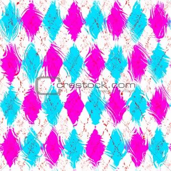 grunge festive checkered pattern