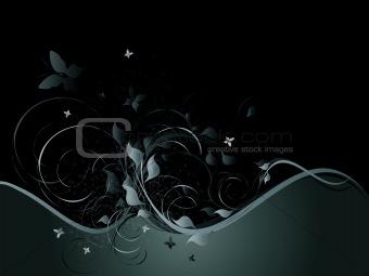 Black horizontal background