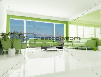 green sea house