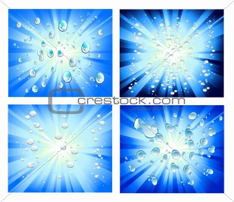 Abstract Light and Bubbles Background