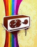 Retro 70&#39;s clock