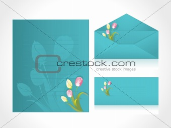 green letter of floral background, wallpaper