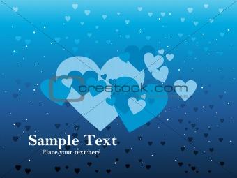 Blue love background