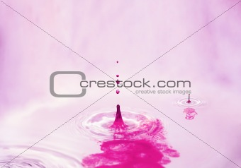 Red splashes