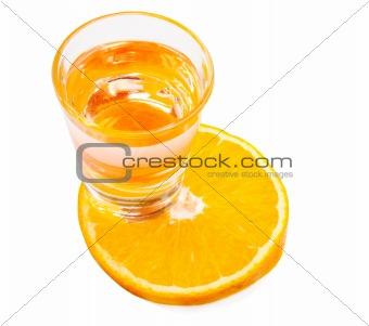 Liqueur and orange