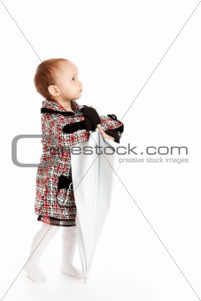 Baby with umbrella