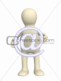 3d puppet a symbol @