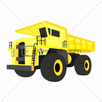 yellow quarry truck