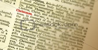 word CHRISTMAS