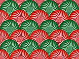 Red and Green Peppermint Background