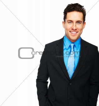 Portrait of a smiling confident young businessman