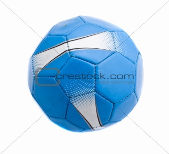 Blue soccer ball