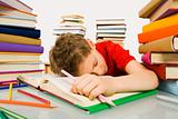 Sleep during lesson