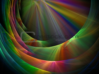 Fractal rainbow abstraction