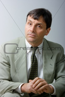 Attentive businessman