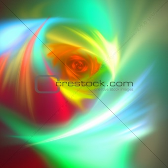 Abstract background. Orange - green palette.