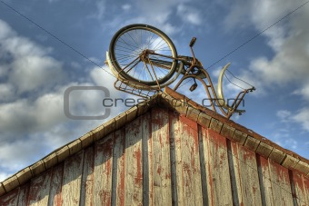 Old shed with bike
