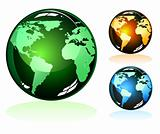 Earth Glossy Icons