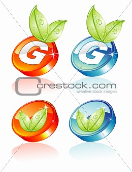 Green Concept 3D button
