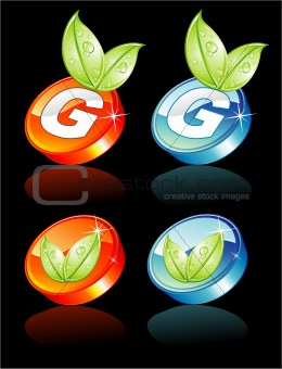 Green Concept 3D button