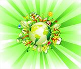 Earth Recycle Concet background