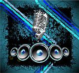 Grunge Retro Music Background