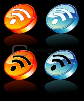 3D Rss feed Icon