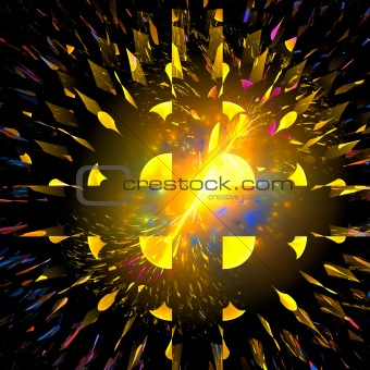 Abstract background. Black - yellow palette.