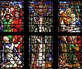 Window in a cathedral in The Netherlands