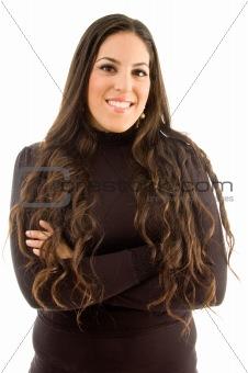 portrait of beautiful woman posing