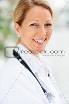 Portrait of a smiling young female doctor