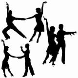 Latino Dance Silhouettes