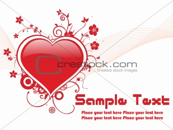abstract red valentine banner