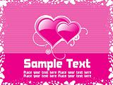 abstract pink background text
