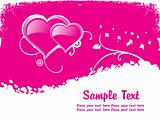 abstract pink valentine background