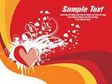 abstract valentine banner, card illustration
